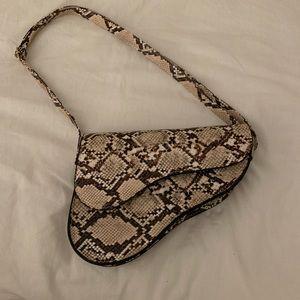 SHEIN Snake Print Saddle Bag